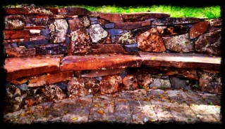 Dry Stacked Stone Bench