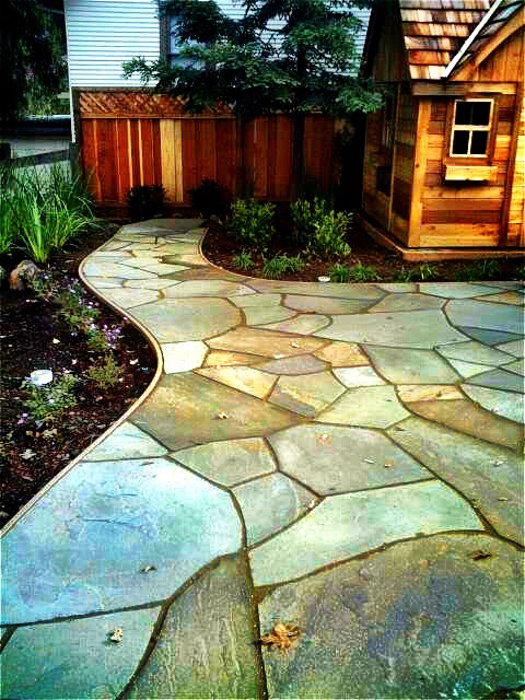 Here At Living Waters Landscaping We Specialize In Dry Laid Flagstone Patios  And Walkways.