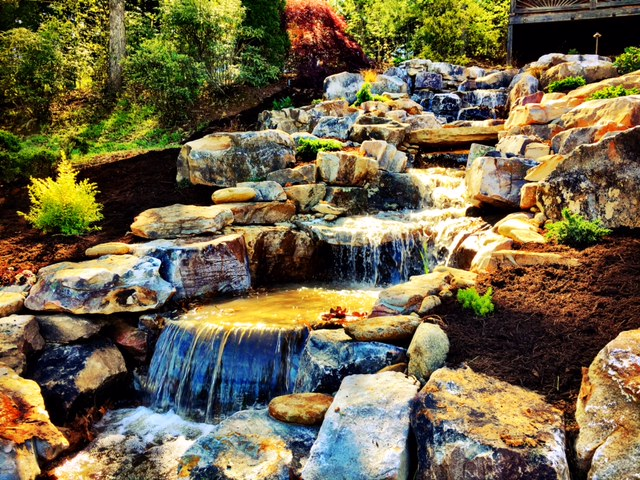 waterfall - Living Waters Landscaping – Custom Water Features And Gardens In