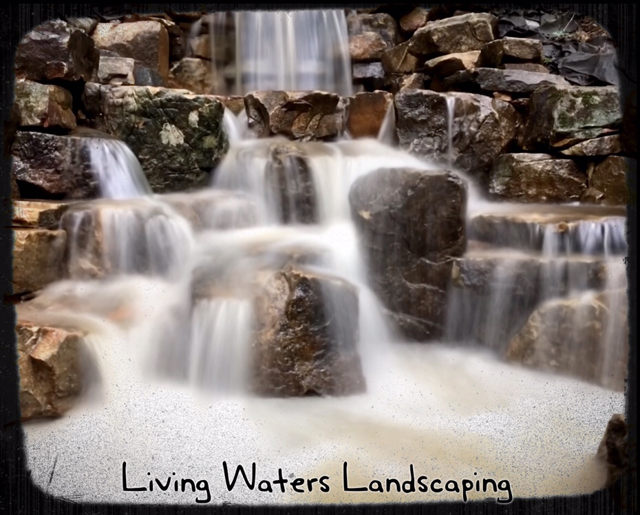 ... 2018 living waters landscaping. We are almost finished with this  vanishing waterfall in Asheville. - New Vanishing Waterfall In Asheville, NC – Living Waters Landscaping
